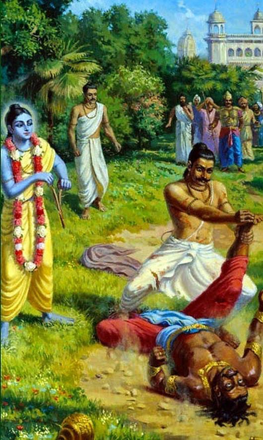 Jarasandha Vaisnava -- being killed by Bhima